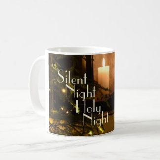 """Silent Night Holy Night"" Beloved Christmas Carol Coffee Mug"