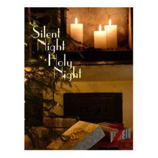 """Silent Night Holy Night"" Beloved Christmas Carol Postcard"
