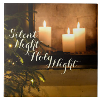 """Silent Night Holy Night"" Beloved Christmas Carol Tile"