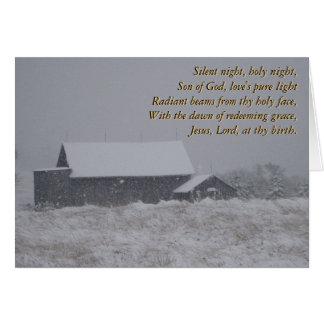 Silent night, holy night... card