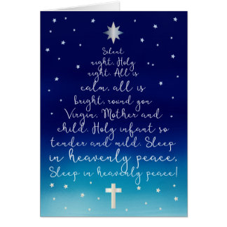 Silent Night Holy Night Christian Christmas Card