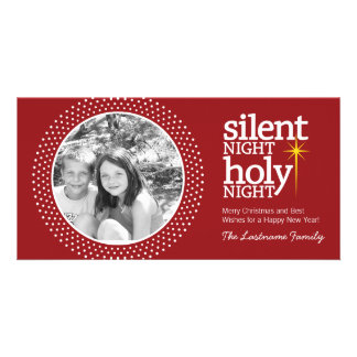 Silent Night, Holy Night Christian Christmas Customized Photo Card