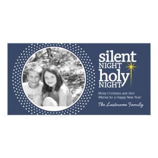 Silent Night, Holy Night Christian Christmas Photo Cards