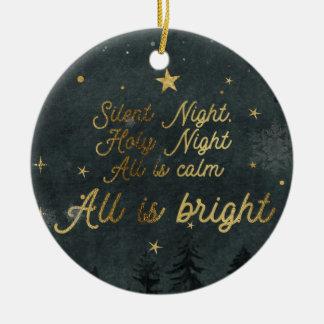 SILENT NIGHT, HOLY NIGHT Circle Ornament