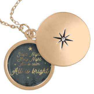Silent night, Holy Night Round Necklace