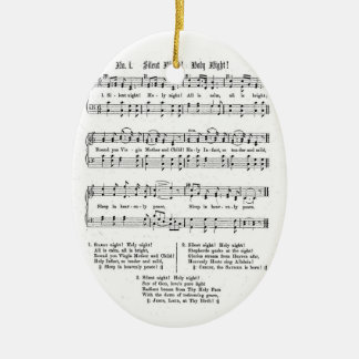 SILENT NIGHT HOLY NIGHT SHEET MUSIC CHRISTMAS SONG CERAMIC ORNAMENT