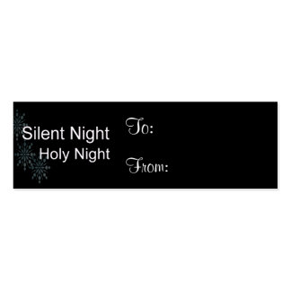 Silent Night Holy Night with Snowflakes Pack Of Skinny Business Cards