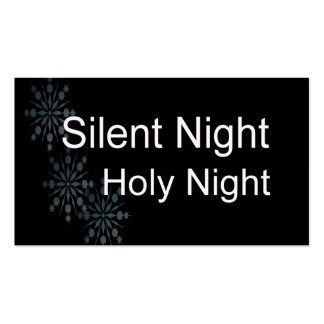 Silent Night Pack Of Standard Business Cards