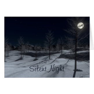 Silent Night Peaceful Winter Christmas Card