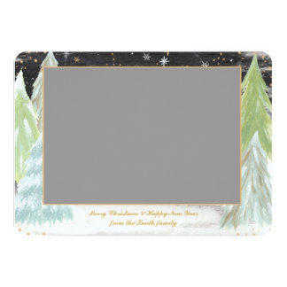 Silent Night - Photo Christmas Card 13 Cm X 18 Cm Invitation Card