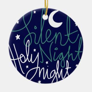 Silent Night Print Ornament
