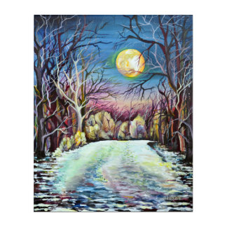 Silent Night , Winter Realism Painting Acrylic Wall Art