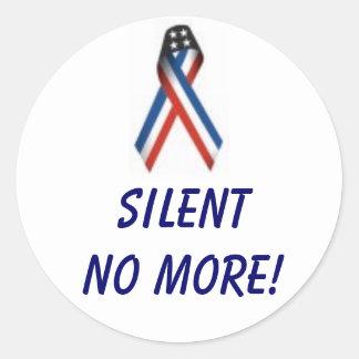 SILENT NO MORE! CLASSIC ROUND STICKER
