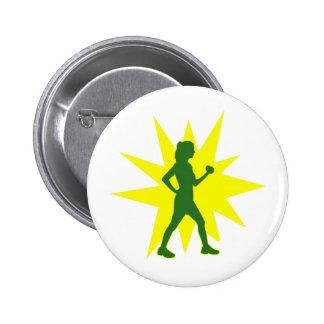 Silent Power Walker 6 Cm Round Badge