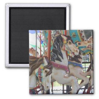 Silent Prancers Carousel Horse Magnet