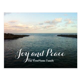Silent Sea Joy & Peace Holiday Greeting Postcards