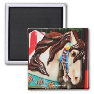 Silent Steed Carousel Horse Photography Magnet