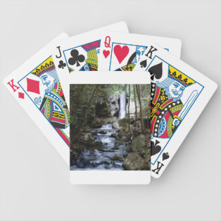 silent stream in forest bicycle playing cards