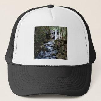 silent stream in forest trucker hat