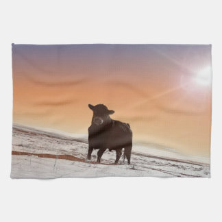 Silent Tenacity Bull Kitchen Towel