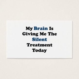 Silent Treatment Business Card