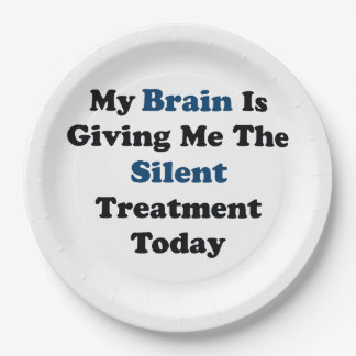 Silent Treatment Paper Plate