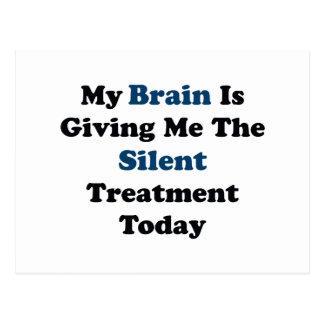 Silent Treatment Postcard