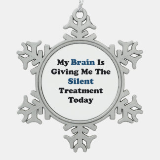 Silent Treatment Snowflake Pewter Christmas Ornament