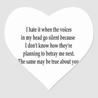 Silent Voices Heart Stickers