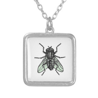 Silent Wallpaper Silver Plated Necklace