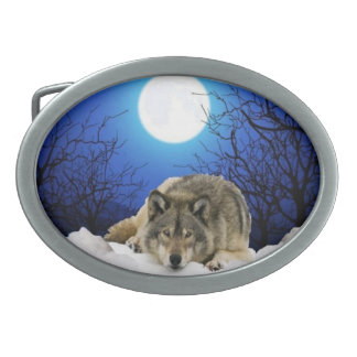 Silent wolf belt Buckle