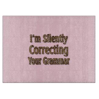 Silently Correcting Your Grammar Cutting Board