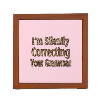 Silently Correcting Your Grammar Pencil Holder