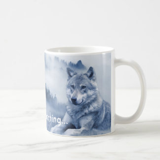 Silently watching... Wolf Dog Mug