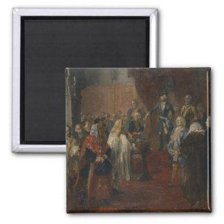 Silesian homage scene, 1855 square magnet
