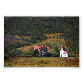 Silfrastadakirkja Church in Iceland Photo Print