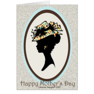 Silhouette # 1 - Polka Dot Hat_Sponge Texture Card