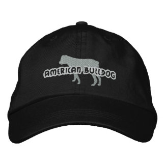 Silhouette American Bulldog Embroidered Hat