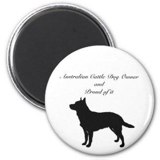 Silhouette Australian Cattle Dog Magnet