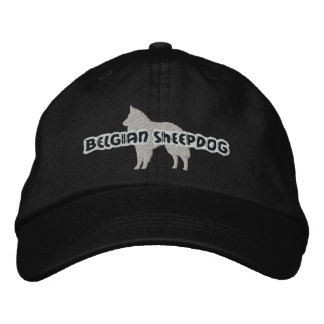 Silhouette Belgian Sheepdog Embroidered Hat
