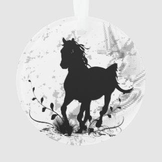 Silhouette, black horse ornament