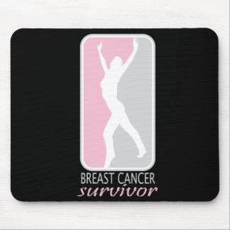 Silhouette Breast Cancer Survivor Mousepads