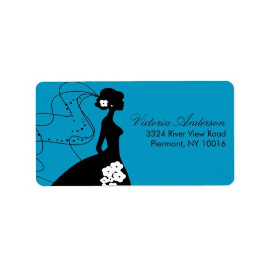 Silhouette Bride Return Address Labels. Label