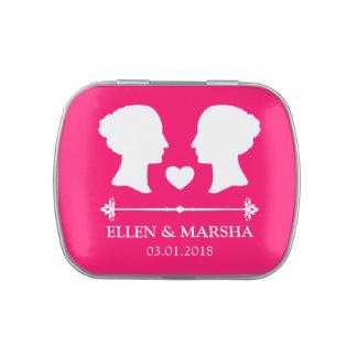 Silhouette Brides Lesbian Wedding Souvenir Candy Tins