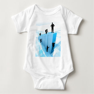 Silhouette Business People Competition Concept Baby Bodysuit