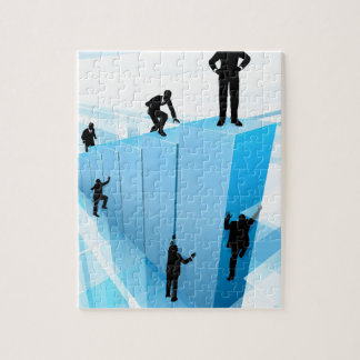 Silhouette Business People Competition Concept Jigsaw Puzzle