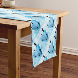 Silhouette Business People Competition Concept Short Table Runner