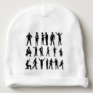 Silhouette Business People Set Baby Beanie