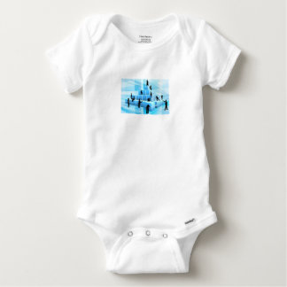 Silhouette Business Team People Building Blocks Baby Onesie