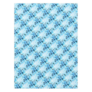 Silhouette Business Team People Building Blocks Tablecloth